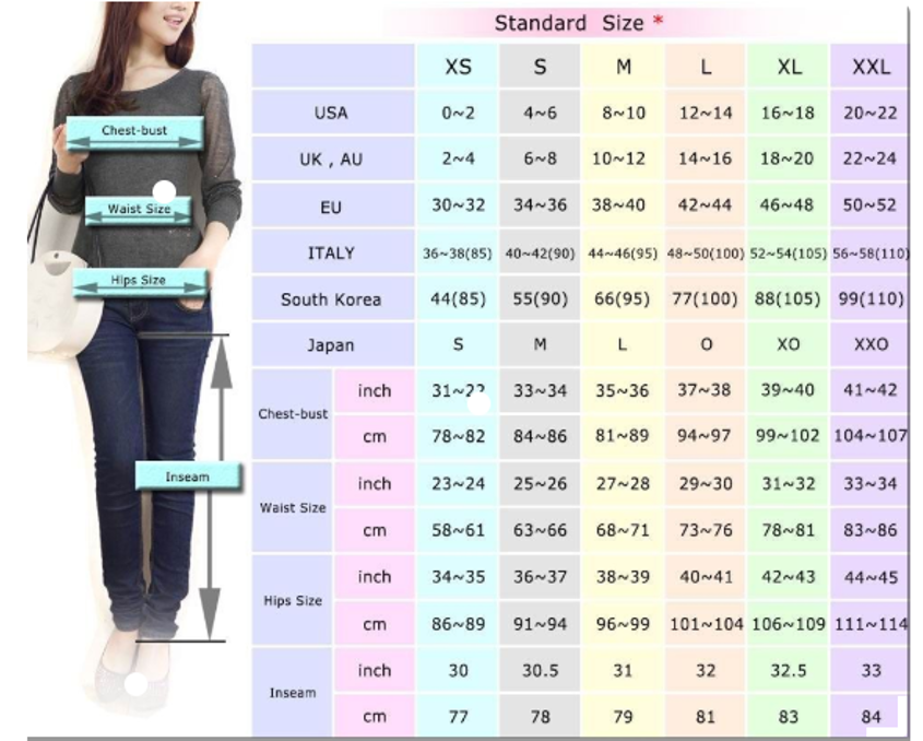 Shoes size conversion korea